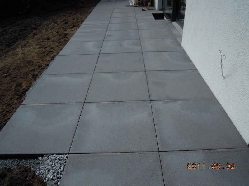 Bevorzugt FRANKENGRÜN Grünanlagenbau einfach geile gärten... - betonplatten LZ72