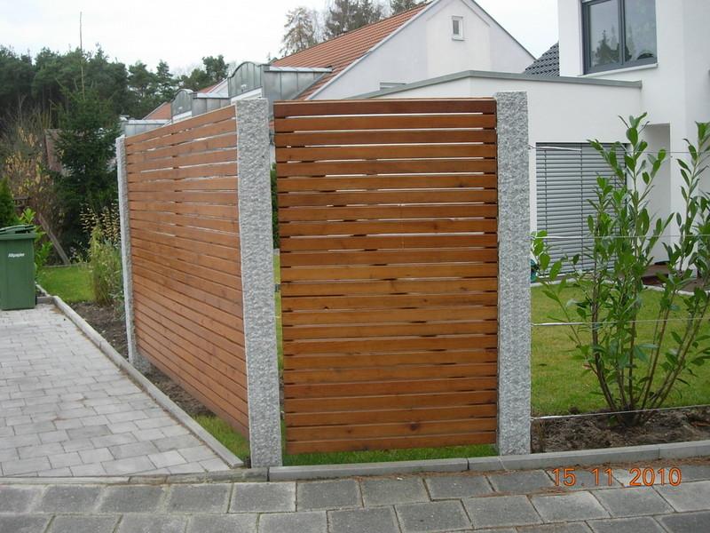 Garten Sichtschutz Larche Sichtschutzzaun Holz Larche Metall Grau