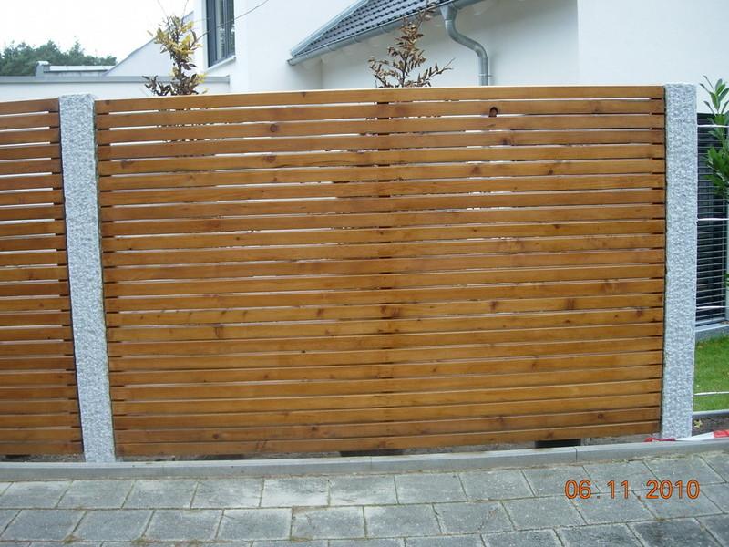 Frankengrün Grünanlagenbau Einfach Geile Gärten  - Sichtschutz Holz